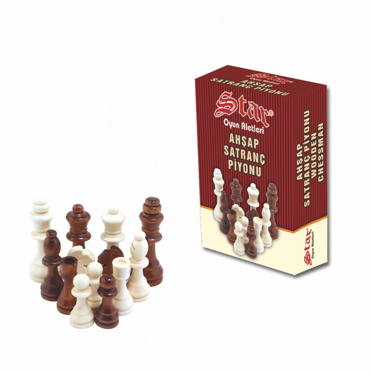Satranç Piyonu Ahşap No:5
