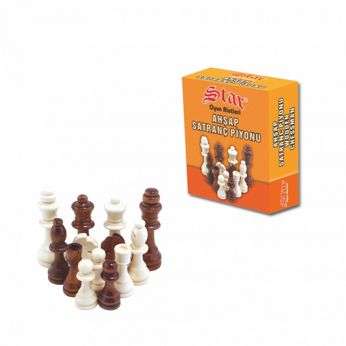 Satranç Piyonu Ahşap No:3